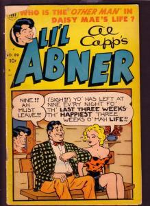 LI'L ABNER #87  AL CAPP  1952 TOBY PRESS DAISY MAE CVR G