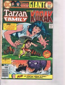 Lot Of 2 Comic Books DC Tarzan Family Korak #65 and Marvel Tarzan #2 ON7