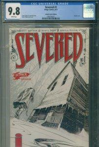 Severed #1 CGC 9.8  Highest Graded  Jetpack Comics Variant  Scott Snyder 8/2011