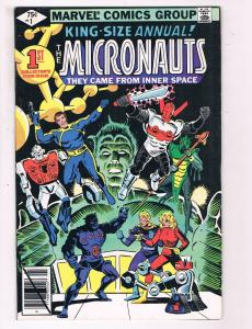 Micronauts #1 VG/FN Marvel Comics Group King Size Annual Comic Book DE5