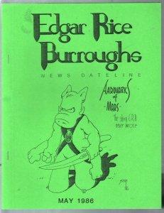 Edgar Rice Burroughs News Dateline #22 1986-Tarzan-ERB-pix-info-Dave Sim-VF