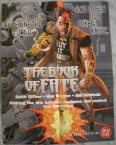 BOOK of FATE Promo poster, Magic, Madness, 1996,  Unused, more in our store