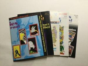 Comics Journal 83 84 86 87 88 Magazine Lot Very Fine Vf 8.0 Pacific Comics