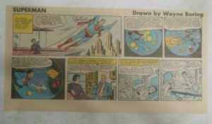 Superman Sunday Page #1140 by Wayne Boring from 8/20/1961 Size ~7.5 x 15 inches