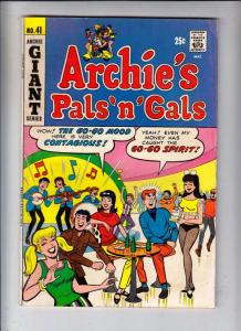 Archie's Pals 'n' Gals #41 (Aug-67) VG/FN Mid-Grade Archie, Betty, Veronica, ...
