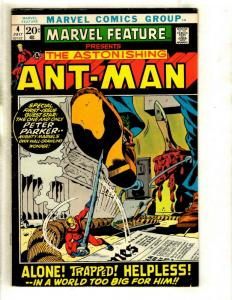 Marvel Feature # 4 FN Comic Book Feat. Ant-Man Hank Pym Wasp Avengers Hulk GK1