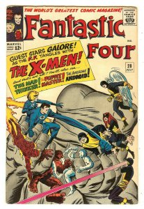 Fantastic Four 28   Early X-Men crossover