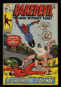 Daredevil #77 FN/VF 7.0 Spider-Man Appearance!