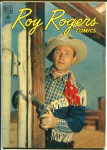 Roy Rogers #4 1948-Dell-photo covers-early issue-VG