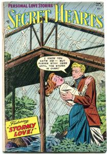 SECRET HEARTS #25 1955-DC ROMANCE VG