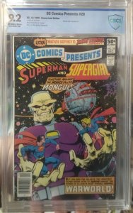 DC Comics Presents #28 CBCS 9.2 Mongul cover and appearance