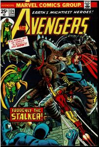 Avengers #124, 7.5 or Better *KEY* 1st Star-Stalker & Origin Mantis