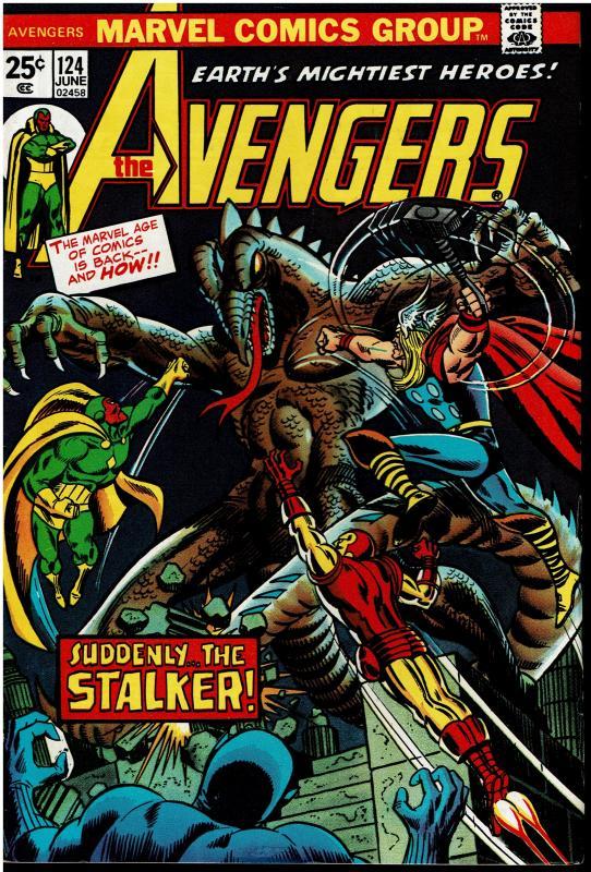 Avengers #124, 7.5 or Better *KEY* 1st Star-Stalker & Origin Mantis