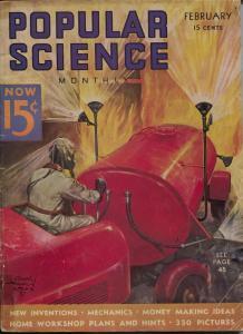 Popular Science 2/1937-Edgar F Wittmark-pulp thrills-VG-