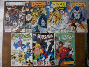 7 MARVEL Comic: DOOMWAR #1 DOOM 2099 #4 8 14 SPIDER-MAN 2099 #4 11 WEB OF #113