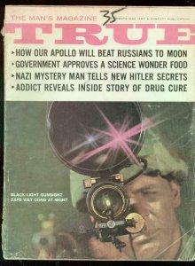 TRUE PULP MAG-MAY 1967-APOLLO TO MOON-HITLER-GEO ROMNEY G