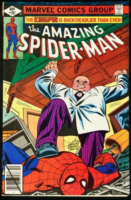 AMAZING SPIDER-MAN #197-1979-KINGPIN-MARVEL-very good VG