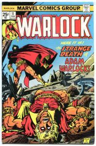 WARLOCK #11, VF, Power of, Jim Starlin, Thanos, 1972, Bronze age, Warlock Dies