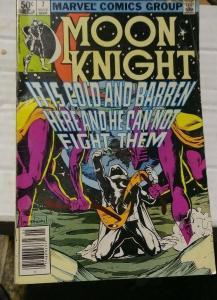 MOON KNIGHT  #7 1981  MARVEL+ MARC SPECTOR  moon kings