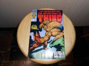 Adventures of the Thing (1992) #1 Apr 1992 Cover price $1.25 Marvel