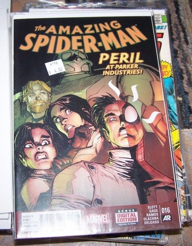 Amazing Spider-Man # 16 (May 2015, Marvel) peter parker silk ghost