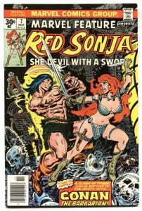 Marvel Feature #7 comic book RED SONJA VS. CONAN-Last issue