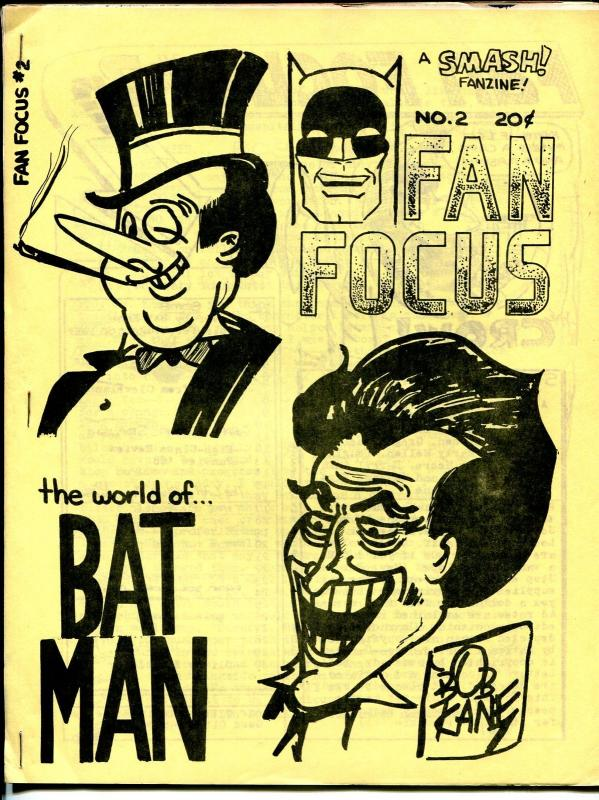 Fan Focus #2 1968-Batman & Robin-Bob Kane LA Comic Book Club-Evanier-FN