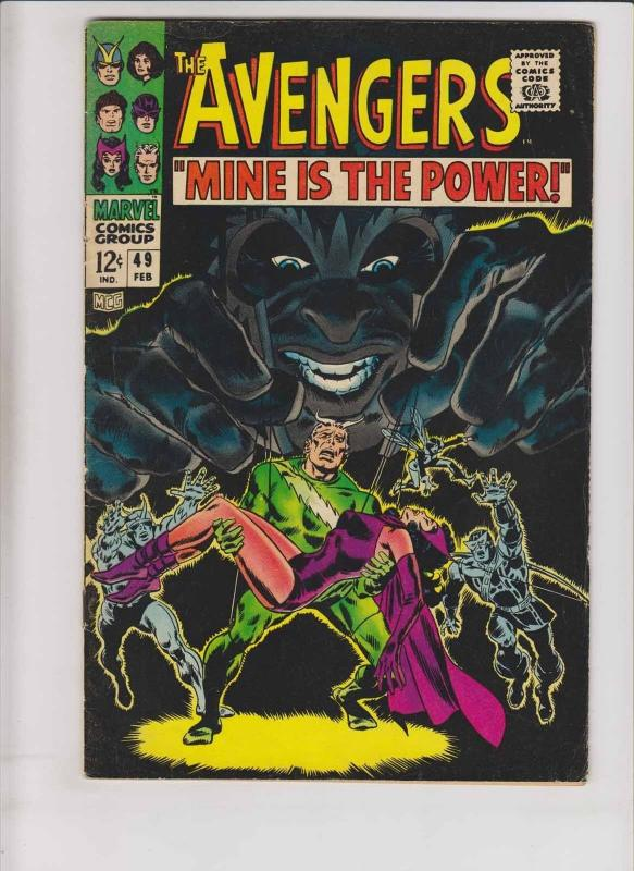 Avengers #49 VG magneto - quicksilver & scarlet witch - roy thomas - marvel 1968
