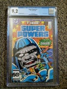 Super Powers # 1 Cgc 9.2 Darkseid appearance Jack Kirby art DC