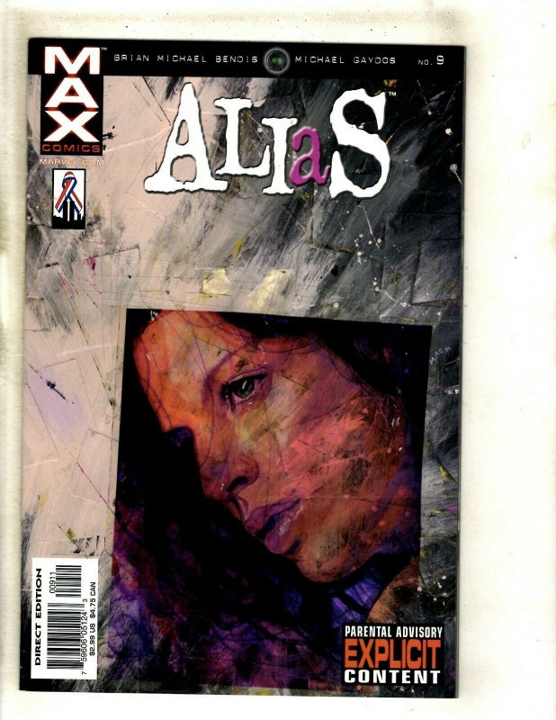 Lot Of 6 Alias Marvel MAX Comic Books # 8 9 10 11 12 13 Brian Bendis RP6