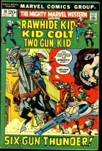 MIGHTY MARVEL WESTERN #18-RAWHIDE KID/KID COLT FN/VF