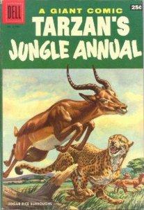 Dell Giant Comics: Tarzan's Jungle Annual #5, VG+ (Stock photo)