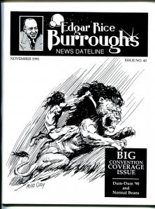 Edgar Rice Burroughs News Dateline #40 1990-Tarzan-ERB portfilio by Mike Cody-VF