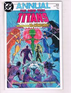 The New Teen Titans Annual #1 VF DC Comics Comic Book Wolfman Vangaurd DE13