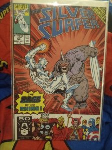The Silver Surfer #54 NM The RAGE Of The Rhino