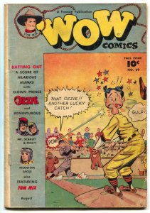 Wow Comics #69 1948- Tom Mix- Last issue- incomplete