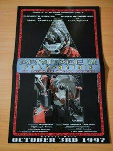 17 x 11 Armitage III Poly-Matrix Anime Movie Promo Poster NO PIN HOLES NEW