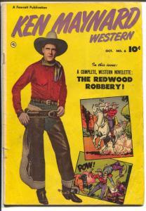 Ken Maynard #6 1951-Fawcett-photo covers-B-western film star-VG