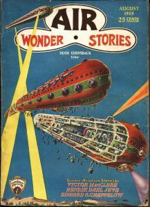 Air Wonder Stories 8/1929-Gernsback-Frank R Paul-sci-fi pulp thrills-vg/fn