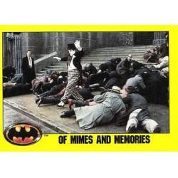 1989 Batman The Movie Series 2 Topps OF MIMES AND MEMORIES #155