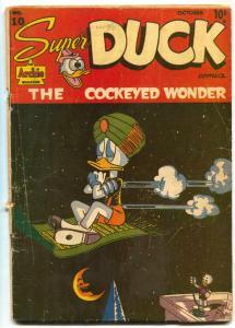 Super Duck #10 1946- Golden Age Archie Funny Animals- G+