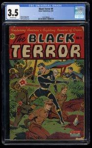 Black Terror #9 CGC VG- 3.5 Off White