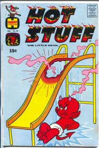 Hot Stuff #94 1969-Harvey-burns hole in metal slide-bizarre cover-FN-