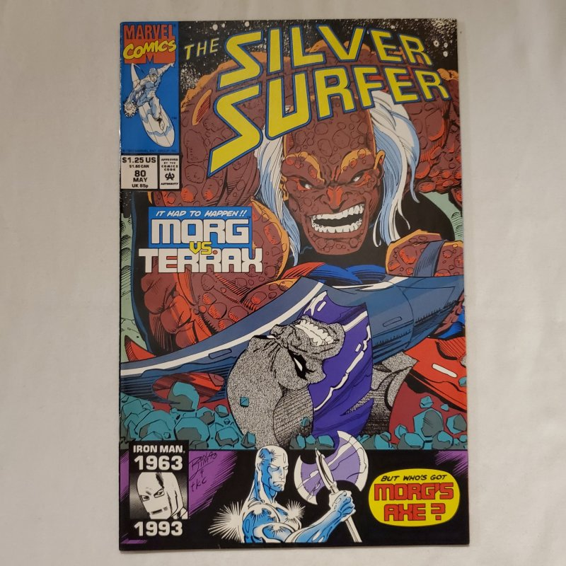 Silver Surfer 80 Near Mint- Art by Ron Frenz