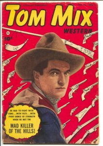 Tom Mix Western #59-1953-Fawcett- B-Western movie star photo cover-VG