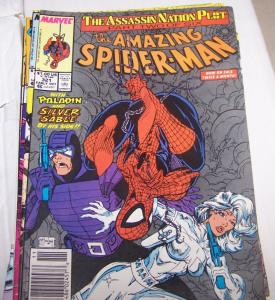 Amazing Spider-Man # 321 assassin nation plot  mcfarlane silver sable paladin