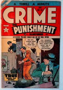 Crime and Punishment #65 Lev Gleason 1954 GD+ Golden Age Comic Book 1st Print