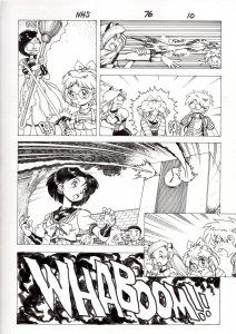 NINJA HIGH SCHOOL #76 PG 10-ANIME-ORIGINAL ART-BEN DUNN-COMIC BOOK-NHS