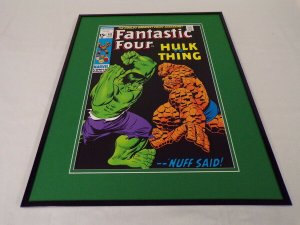 Fantastic Four #112 Marvel Framed 16x20 Cover Poster Display Hulk vs Thing