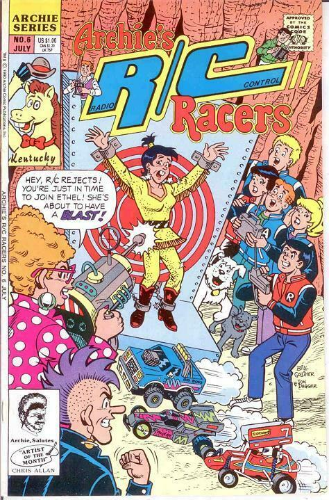 ARCHIES R/C RACERS (1989)6 VF-NM July 1990 COMICS BOOK